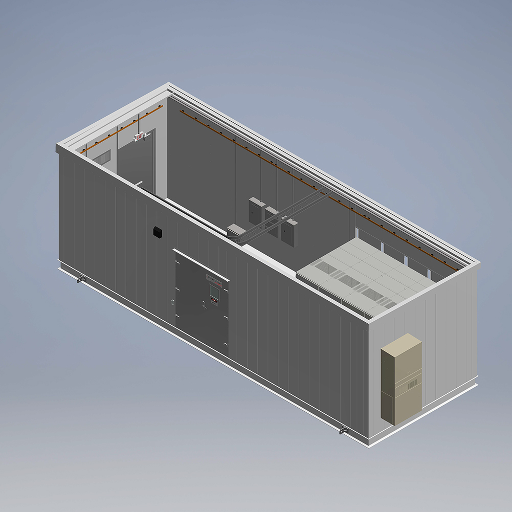 PCD Building 3D Drawing